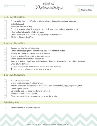Bekannt La check-list du baptême catholique Baptême Bébé FI24