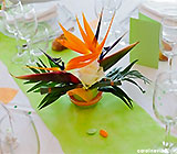 Bapteme-bebe-theme-decoration-fille-vert-anis-orange