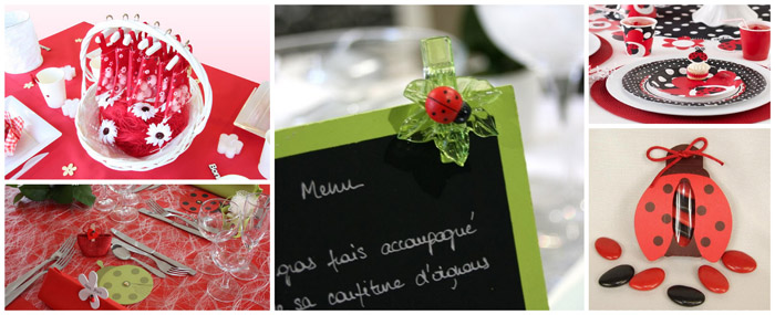 Decoration Table Bapteme Theme Coccinelle