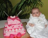 Pièce montée du baptême d'Hannah