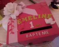 Boîte aux oboles du baptême d'Emeline