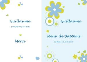 Menu Outil Gratuit Pour Modèles Et Dyi Baptême Bébé